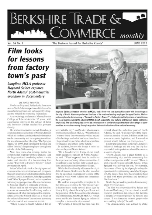 Berkshire Trade & Commerce June 2012 - Maynard Seider article